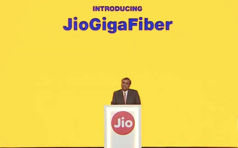 Reliance Jio offering 50Mbps JioGigaFiber plan for Rs 2,500: Report