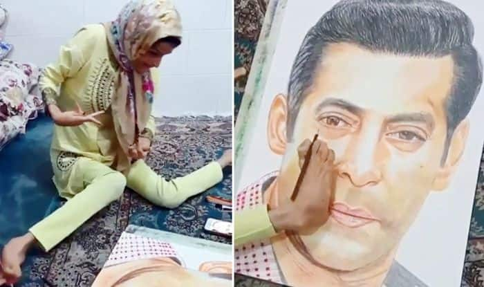 Salman Khan Goes All Emotional as Differently-Abled Fan Paints His Portrait With Her Legs