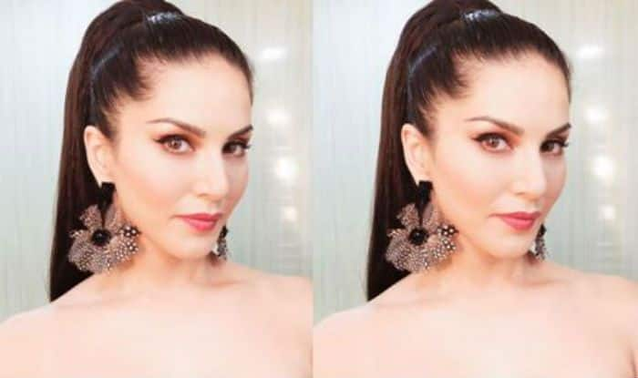 Sunny Leone Looks Party Ready in Tube Dress And High Pony- Check Hot And Sexy Picture