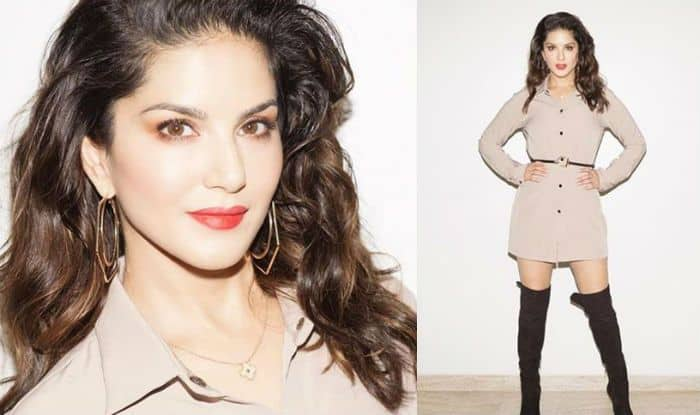 Sunny Leone's Flawless Skin, Red Lips And Subtle Outfit is Redefining Perfection in This Picture