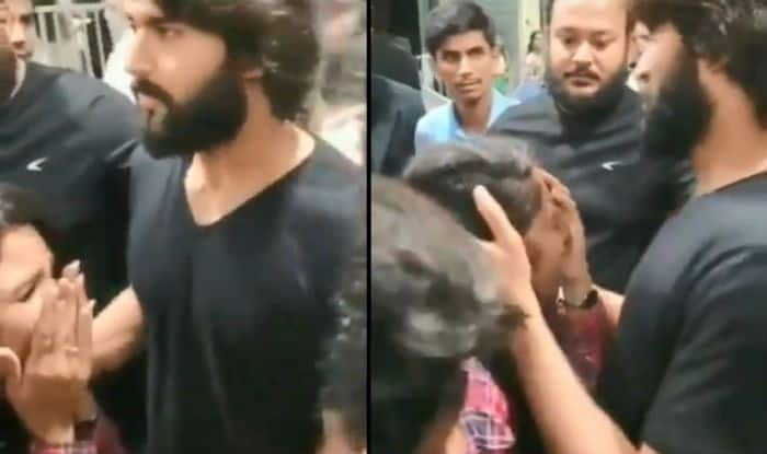 Dear Comrade Fame Vijay Deverakonda Hugs And Consoles a Female Fan as She Cries After Seeing Her Favourite Actor