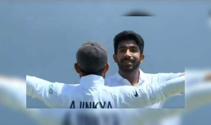 Ajinkya Rahane Imitates Jasprit Bumrahs Celebration, Ajinkya Rahane century, Ajinkya Rahane Man of the Match, Ajinkya Rahane records, Jasprit Bumrah wickets, Jasprit Bumrah five-wicket haul, Cricket News, India vs West Indies, Ind v WI, WI vs Ind, India beat West Indies by 368 runs