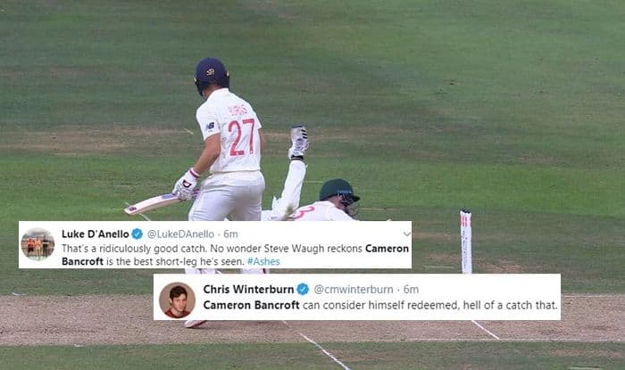 Cameron Bancroft, Cameron Bancroft catch, Cameron Bancroft takes catch to dismiss Rory Burns, Ashes 2019, Lords Cricket Ground, England vs Australia, Eng vs Aus, Cricket News, London Weather, 2nd Ashes Test