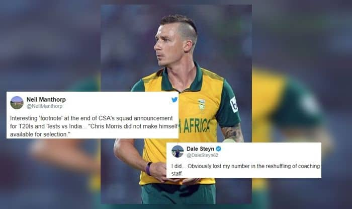 Dale Steyn, India vs South Africa, South Africa tour of India 2019, Ind vs SA, Cricket News, CSA announce T20I squad for India tour, CSA announce Test squad for India tour, Dale Steyn career, Dale Steyn wickets, South Africa's tour of India 2019, India vs South Africa, IND vs SA, South Africa announce test squad for tour of India, South Africa announce T20I squad for tour of India, South Africa team for India tour, Quinton de Kock to lead t20i, Quinton de Kock named captain of South Africa T20I team, Faf du Plessis South Africa test captain, South Africa cricket team for India tour, South Africa cricket news, Dale Steyn not picked for India tour