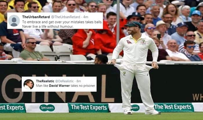 David Warner, He's Got Sandpaper in His Hands, English fans boo David Warner, David Warner's reaction, Ashes 2019, England vs Australia, Eng vs Aus, Australian opener David Warner, Australia Cricket Team, England Cricket Team, Cricket News, English fans troll David Warner, Hollies, David Warner sledged