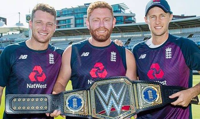 World Cup 2019, England cricket team, WWE Championship belt, Triple H