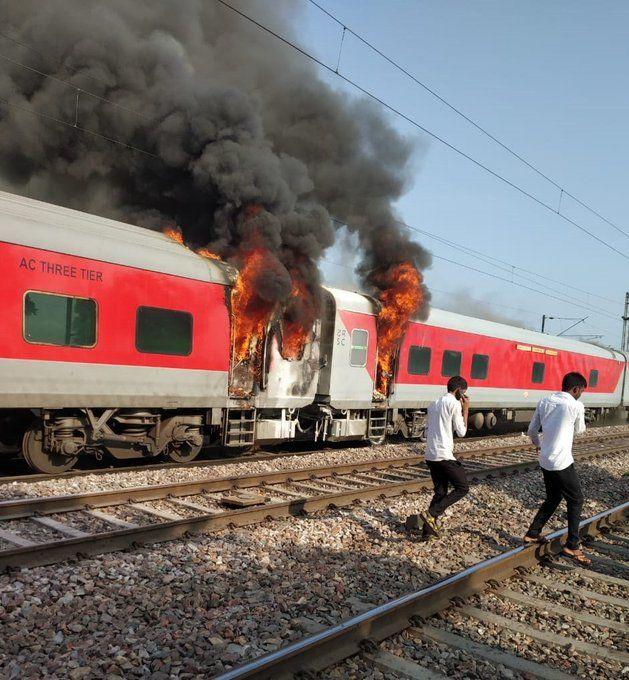 Haryana: Fire Breaks Out in Brake Binding of Telangana Express, no Casualty