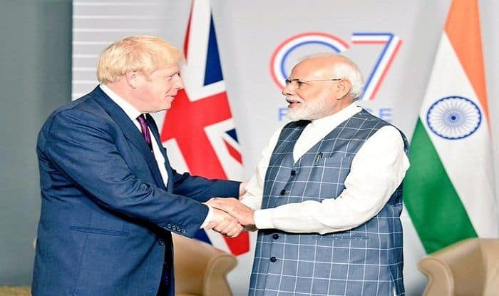 PM Modi and British PM Boris Johnson