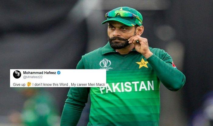 Mohammad Hafeez, Mohammad Hafeez retirement, Pakistan Cricket Team, Mohammad Hafeez age, Mohammad Hafeez slams fan, My career meri marzi