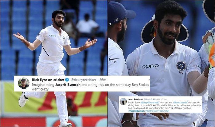 Jasprit Bumrah, Jasprit Bumrah Twitter, Jasprit Bumrah wickets, Jasprit Bumrah records, India vs West Indies, India beat West Indies by 318 runs, India take 1-0 lead, Ind vs WI, Indian Cricket Team, Antigua Test, Jasprit Bumrah spell, World Test Championship
