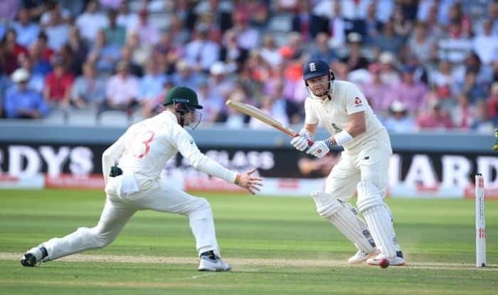 Ashes 2019, 2nd Ashes Test Report, Rory Burns, Jonny Bairstow, Steve Smith, Stuart Broad, Josh Hazlewood, Pat Cummins, Ashes Day 2 Report, England vs Australia Lord's Test, Joe Root, Tim Paine, Cricket News