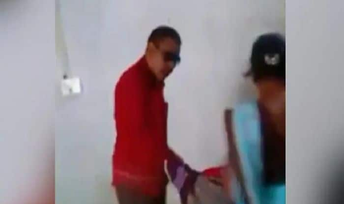 Caught on Camera: Chhattisgarh Official Suspended After Her Husband Drags Woman Cleaner With Her Three-month-old Baby