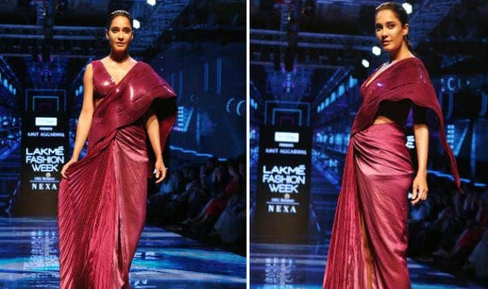 Lisa Haydon walks the ramp at Lakme Fashion Week