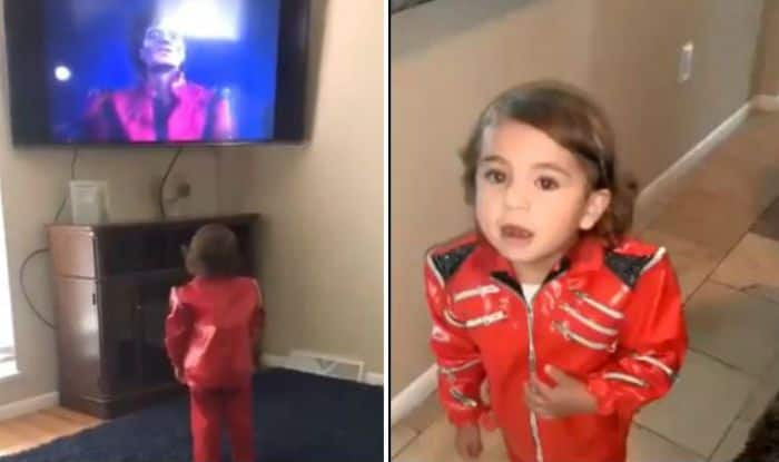 Little boy tries to imitate Michael Jackson