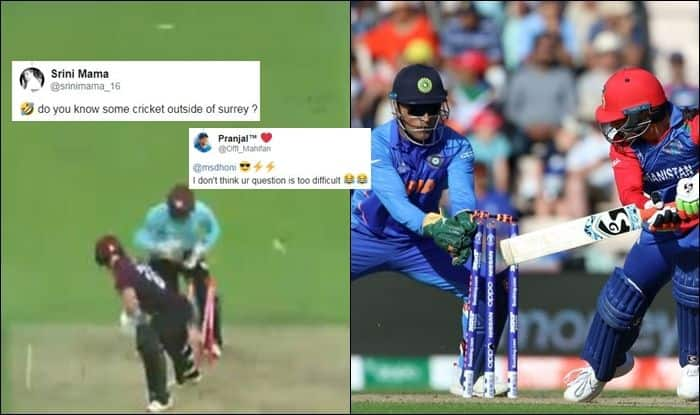 Surrey Cricket trolled, Ben Foakes, wicketkeeper Ben Foakes, Ben Foakes stumping, Ben Foakes records, Ben Foakes speed, MS Dhoni, former Indian captain MS Dhoni, Indian Cricket Team, Team India, County Championship, Cricket News