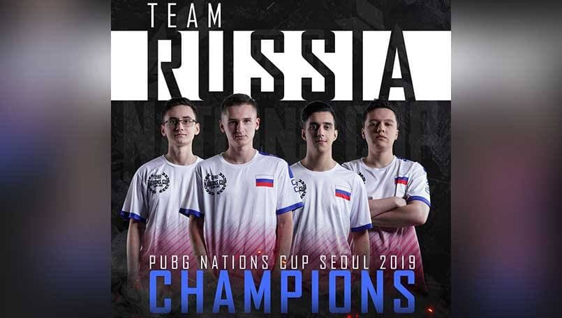 Team Russia wins first ever PUBG Nations Cup