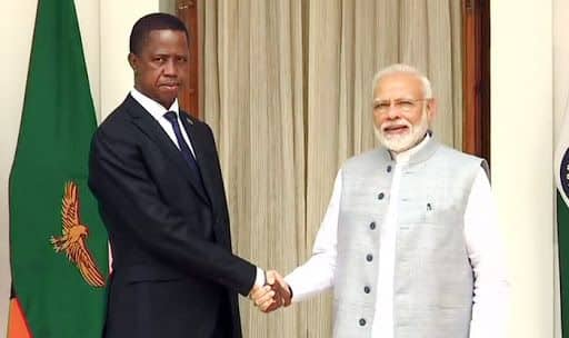 PM Modi Meets Zambia President in Hyderabad House to Review Bilateral Relations