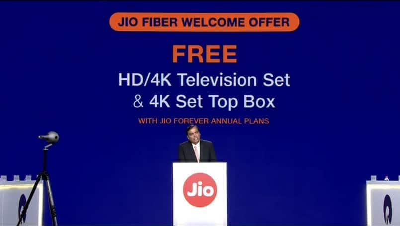 Reliance JioFiber commercial launch on September 5; customers might get two month free service