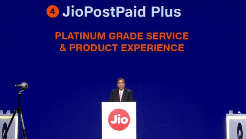 Reliance JioPostpaid Plus with family plans and data sharing announced