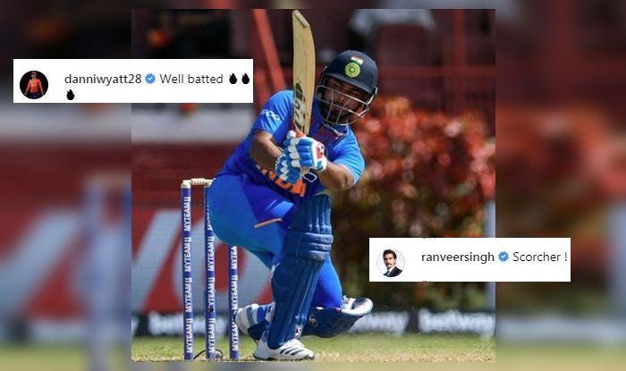 Rishabh Pant, Rishabh Pant Twitter, Rishabh Pant hailed on Twitter, Danielle Wyatt praises Rishabh Pant, Ranveer Singh praises Rishabh pant, India vs West Indies, India whitewash West Indies 3-0, Ind vs WI, Ind v WI, WI vs Ind, Cricket News, Rishabh Pant record