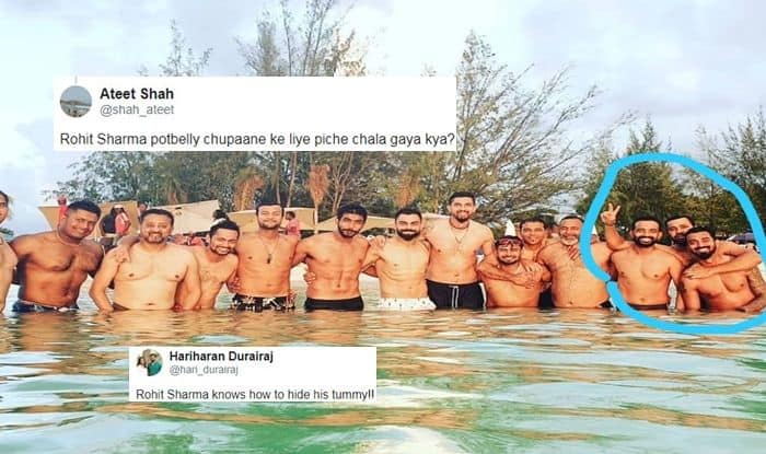 Rohit Sharma Unnecessarily TROLLED For Hiding His Belly as Virat Kohli Flaunts Abs by The Beach Ahead of 1st Test vs West Indies | SEE POSTS