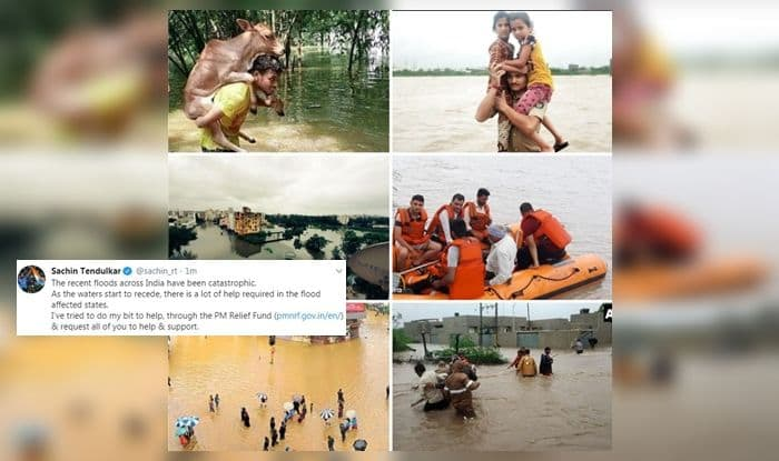 Sachin Tendulkar, Sachin Tendulkar's message, PM Relief Fund, flood-hit states, flood-hit victims, flood victims, Karnataka floods, Jammu and Kashmir floods, Maharashtra floods, Uttarakhand floods, floods helpline, flood donations, Little master Sachin Tendulkar, Sachin Tendulkar records, Cricket News, Flood LIVE, india monsoon, India rain, Rain-affected states,
