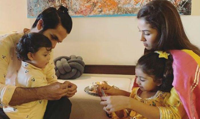 Shahid Kapoor Mira Rajput celebrate Rakhi with kids