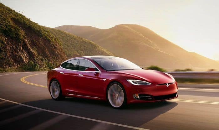 Tesla Model S electric car, PIN to Drive, London, Key fob