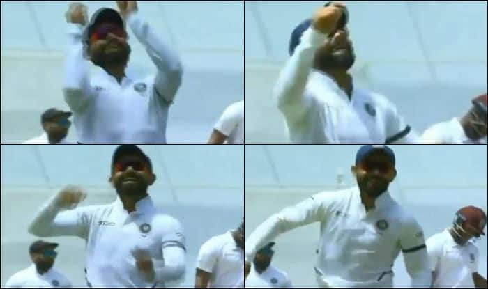 Virat Kohli, Virat Kohli dance, Virat Kohli record, Virat Kohli century, Virat Kohli successful captain, India vs West Indies, Virat Kohli Dandiya dance, Ind vs WI, WI vs Ind, World Test Championship, India beat West Indies by 318 runs, Antigua Test, Cricket News