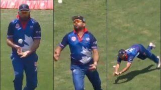 Yuvraj Singh's Juggling Catch During Global T20 Canada Match Between Toronto National-Brampton Wolves is Stunning | WATCH VIDEO