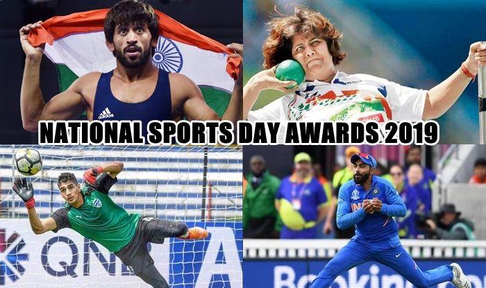 National Sports Day Awards 2019, National Sports Day 2019, Rajiv Gandhi Khel Ratna Award, Dronacharya Award, Arjuna Award, Ravindra Jadeja gets Arjuna Award, President of India, Rashtrapati Bhavan