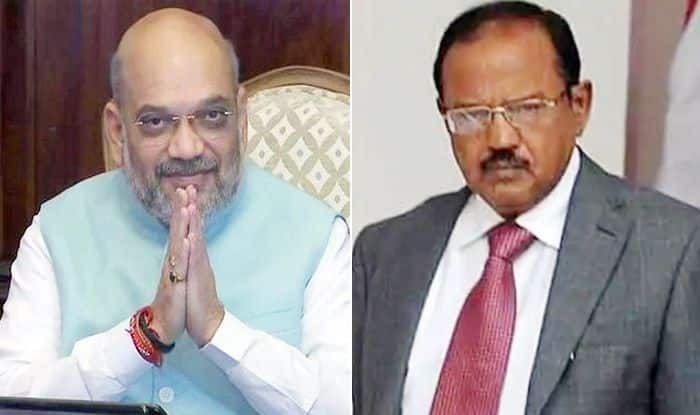 Home Minister Amit Shah Holds Meeting With NSA Ajit Doval Over J&K Situation