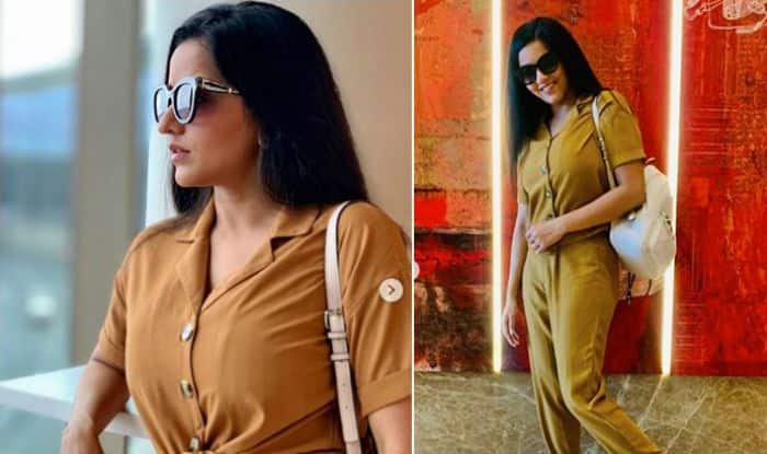 Bhojpuri Hotshot Monalisa Aka Daayan Aces The Airport Look in Her Mustard Outfit And We Can't Keep Calm