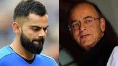 'Shocked & Saddened', Kohli Pays Heartwarming Tribute to Former FM Arun Jaitley on Twitter | SEE