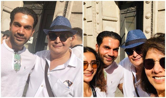 Rajkummar Rao, Rishi Kapoor, Neetu Kapoor and Patralekha in New York
