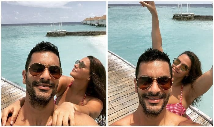 Neha Dhupia and Angad Bedi enjoying the weekend at the Maldives
