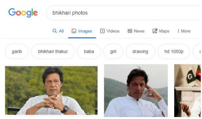 Google Shows Photos of Pakistan's PM Imran Khan While Searching 'Bhikhari'
