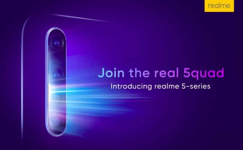 Realme 5 price in India to reportedly start at Rs 8,999; will offer quad cameras and more