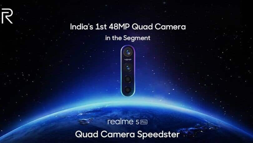 Realme 5 Pro confirmed to feature 48MP quad-camera, launch set for August 20