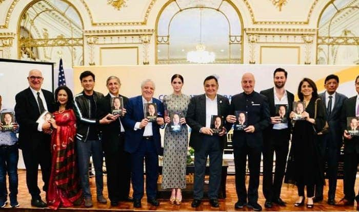 Rishi Kapoor Launches Friend Anupam Kher's Autobiography 'Lessons Life Taught Me, Unknowingly' in New York