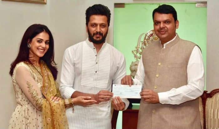 Riteish Deshmukh And Genelia D'Souza Donate Rs 25 Lakh to CM Relief Fund For Maharashtra Floods