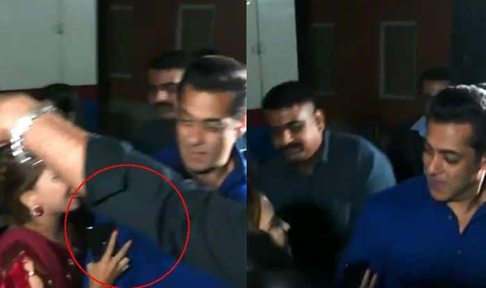 Female Fan Behaves Inappropriately With Salman Khan at an Event And How Superstar Reacts Makes The Video go Viral