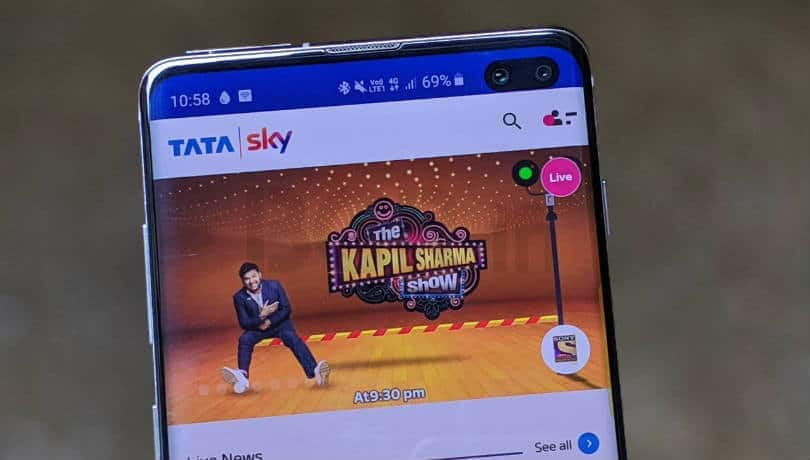 How to select and modify channels on Tata Sky using Android or iOS app