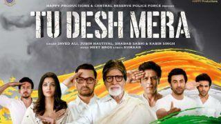 Tu Desh Mera: Amitabh Bachchan, Shah Rukh Khan, Aishwarya Rai Bachchan, Aamir Khan, Tiger Shroff, Kartik Aaryan, Ranbir Kapoor Pay Song Tribute to Pulwama Martyrs