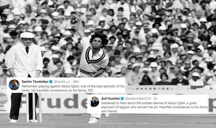 Abdul Qadir, Abdul Qadir passed away, Abdul Qadir dies of cardiac arrest, Abdul Qadir Pakistan Legspinner, Legend Abdul Qadir dies, Abdul Qadir Pakistan Cricket Legend, Pakistan Cricket Team, Cricket News, Abdul Qadir suffers cardiac arrest, Abdul Qadir Twitter, Sachin Tendulkar, Anil Kumble, Harsha Bhogle, Bishan Singh Bedi, Cricket News, Abdul Qadir records, Abdul Qadir wickets