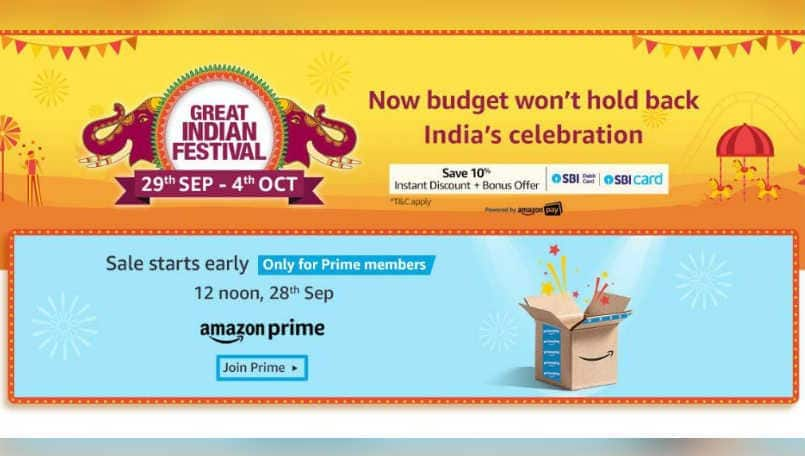 Amazon Great Indian Festival sale begins on September 29: Offers on phones, TVs, laptops and more