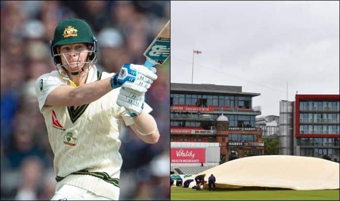 Steve Smith, Steve Smith fifty, Steve Smith record, Steve Smith eighth consecutive fifty, Ashes 2019, Ashes 2019 4th Test, Manchester, Old Trafford, Cricket News, Stuart Broad, Rain stops play,