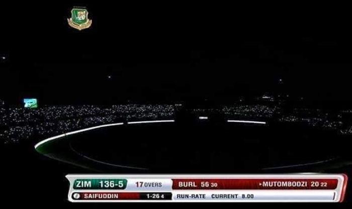 Bangladesh vs Zimbabwe, Bangladesh beat Zimbabwe by 3 wickets, Sher-e-Bangla stadium, Dhaka, Power failure at Sher-e-Bangla, Bangladesh latest news, Bangladesh Cricket Team, Bangladesh vs Zimbabwe 1st T20-I, 1st T20I Sher-e-Bangla stadium, Cricket News, Power failure in cricket matches