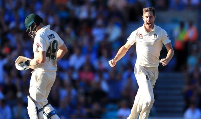 Steve Smith, Chris Woakes, Woakes removes Smith in 5th Test, Smith vs Woakes, Woakes removes Smith for 3rd time in series, Steve Smith misses out on hundred, Twitter stunned over Steve Smith dismissal, Steve Smith is a mortal, Ashes 2019, England vs Australia, ENG vs AUS 5th Test, Steve Smith Don Bradman, Steve Smith Records, Twitter Surprised Over Smith's Dismissal, Oval Test