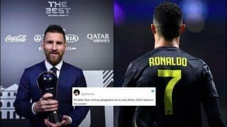 Juventus Striker Cristiano Ronaldo Fans TROLL Lionel Messi Unnecessarily After Barcelona Star Bags Men's Player of the Year at Best FIFA Football Awards 2019   SEE POSTS
